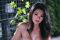 Busty Pim Pimpilai Strips On Bench And Uses Toy On Shaved Pussy