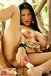 Nancy Ho Squeezing Breast Masturbating With Toy