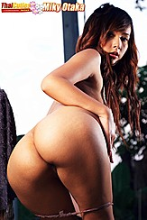 Leaning Forward Bending Over Hand On Waist Big Round Ass Panties Pulled Down
