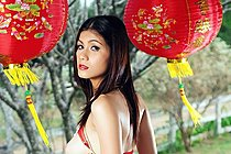 Busty Thai Babe Natt Chanapa Strips For Chinese New Year