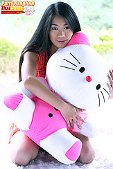 Clutching Hello Kitty To Her Chest