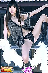 Sitting On Fence Strap Of Dress Falling Down Legs Spread In Panties Wearing Boots